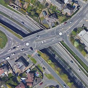 Swinnow Road Double Roundabout