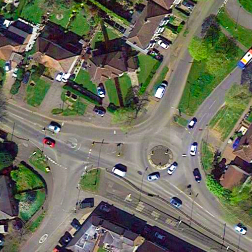 Warwick Road Double Roundabout