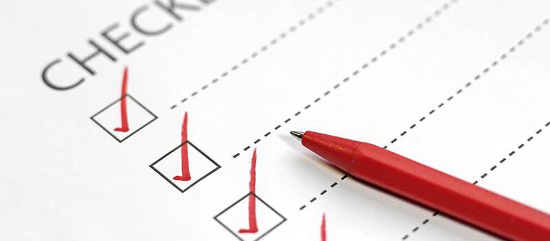 checklist with ticks