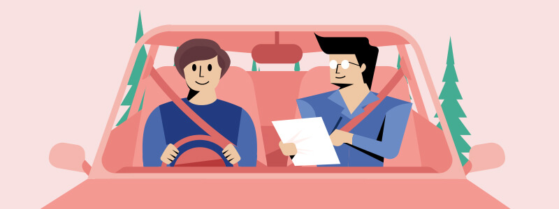 driving test illustration
