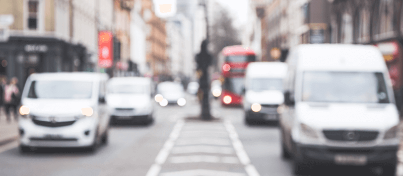 cars on road in london